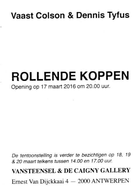 Colson & Tyfus, ROLLENDE KOPPEN