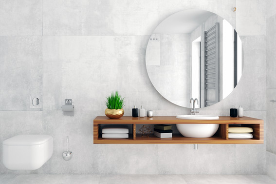 Modern betonlook en hout