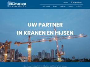 Website Kraanverhuur Van der Vlist B.V. online