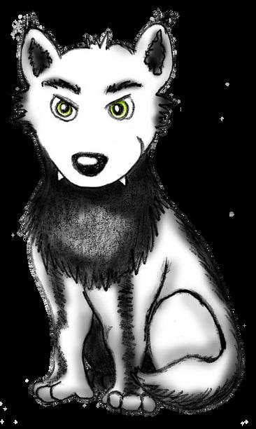 Illustratie slimme wolf