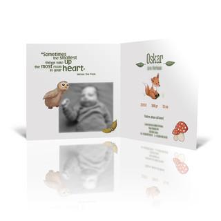 Illustraties en Ontwerp geboortekaartje Vosje