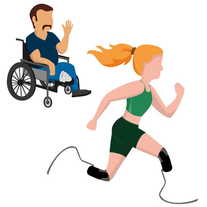 Illustraties protheses in gebruik