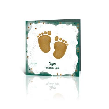 Illustraties en Ontwerp geboortekaartje Voetjes