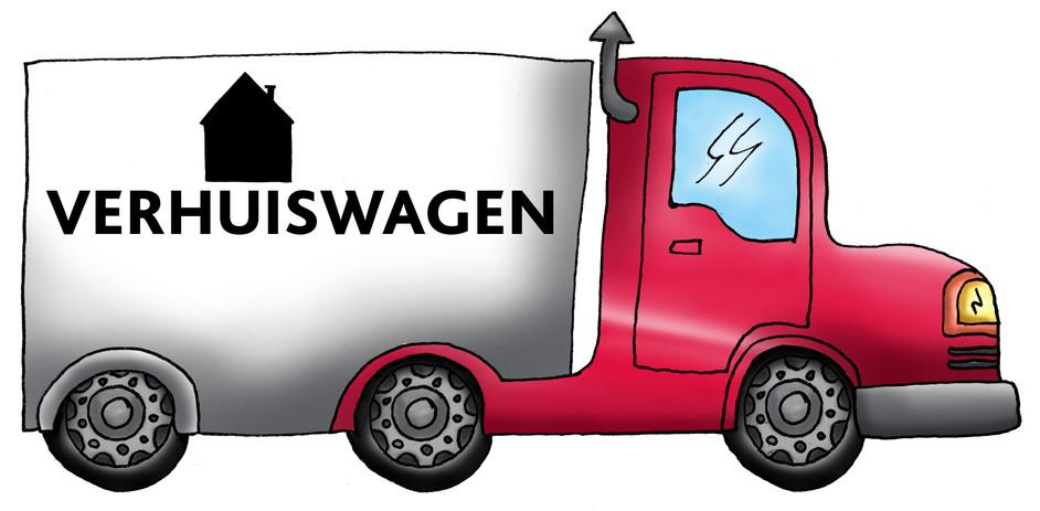 Illustratie Verhuiswagen