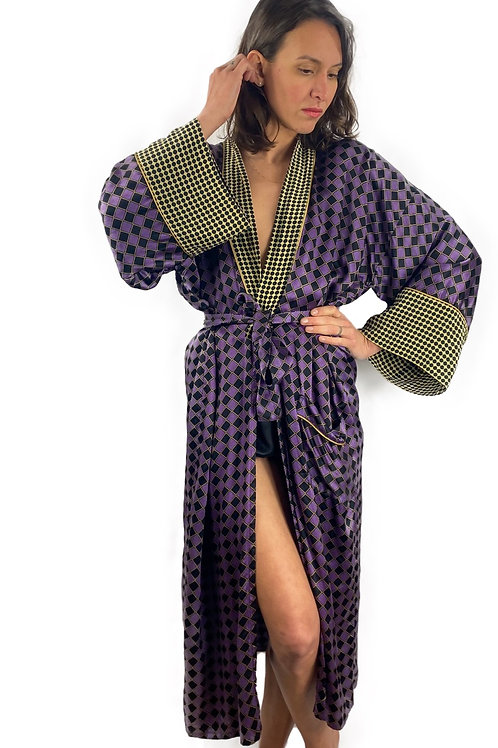 Kimono Mademoiselle Purple Tiles
