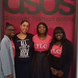 _youngladiesclub #allgirlsrock _werockteam_uk at _ASOS head offices for #witasos #womeninIT #greatev