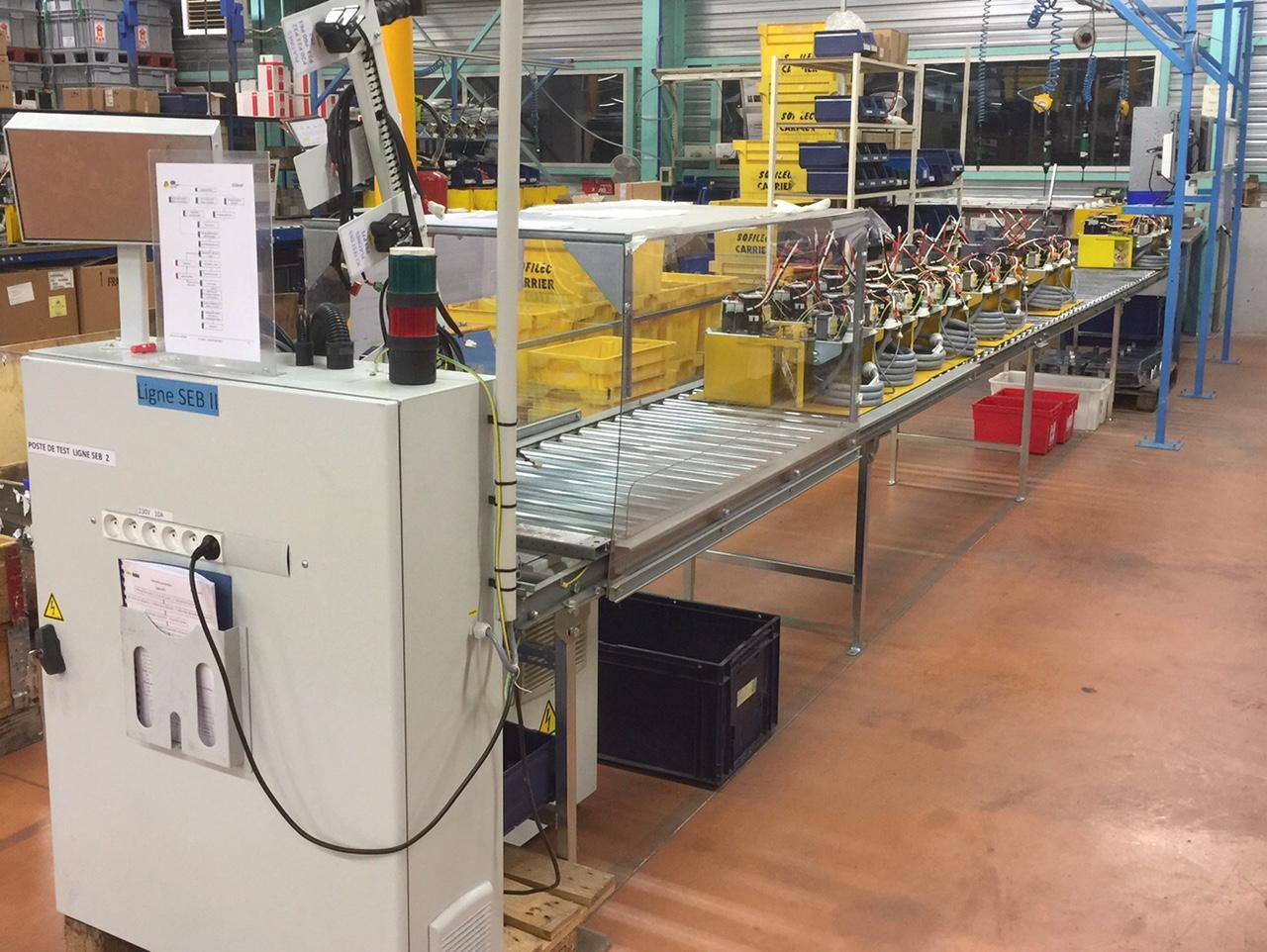 Ligne de production platines compresseur