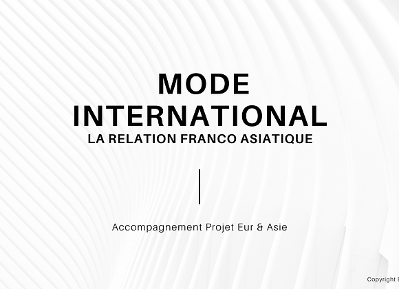 La relation Franco Asiatique - trends 2020