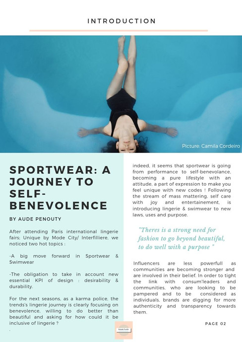 SS21 Activewear trends study