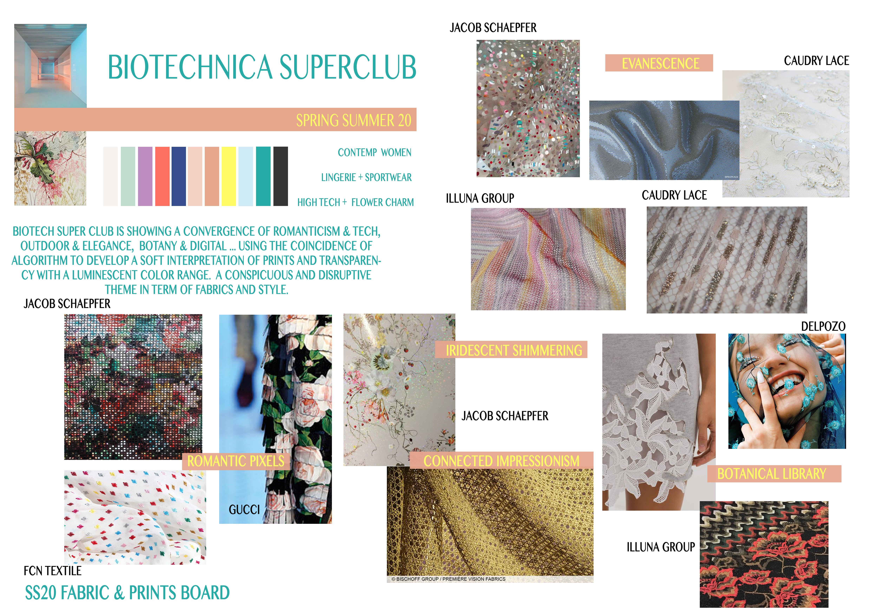 SS 20 Biotechnica Superclub Fabrics