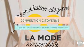La convention citoyenne pour la mode durable