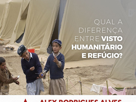 Qual a diferença entre visto humanitário e refúgio?