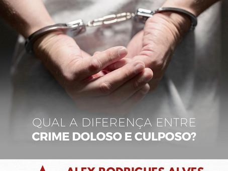 Qual a diferença entre crime doloso e culposo?