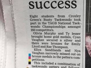Rusty Taekwondo makes Watford Observer!