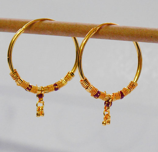 Gold plated earrings he13