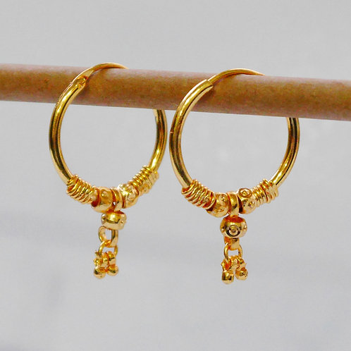 Gold plated earrings he16