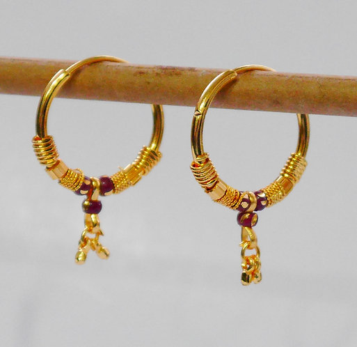 Gold plated earrings he19