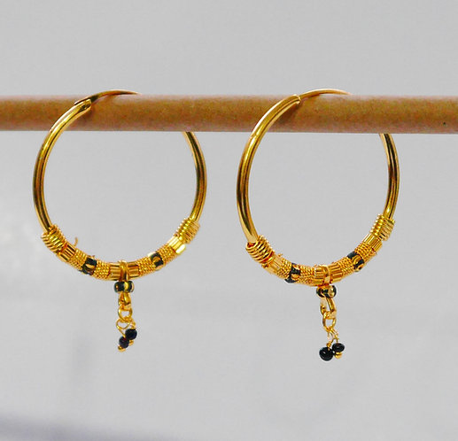Gold plated earrings he17