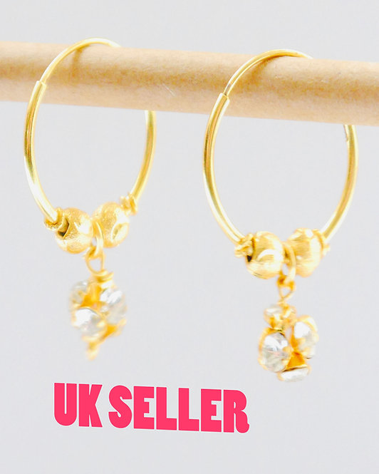 Gold plated earrings he18