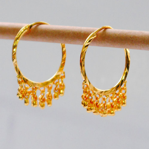 Gold plated earrings he6