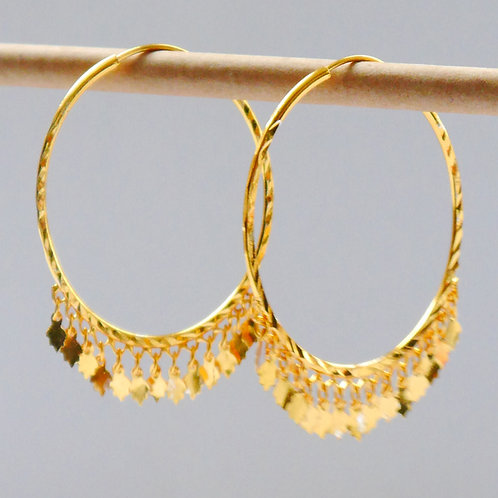 Gold plated earrings he4