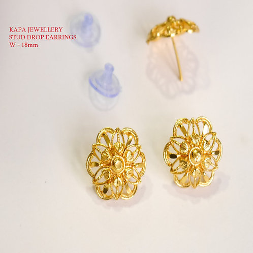 STUD EARRINGS GOLD PLATED