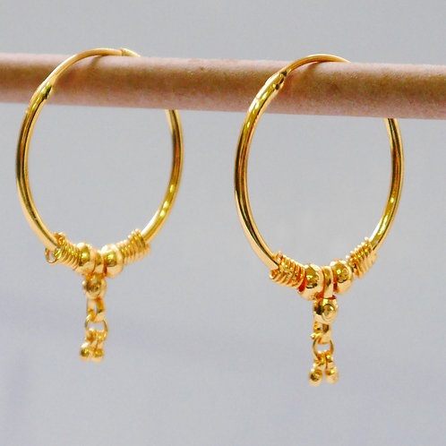 Gold plated earrings he8