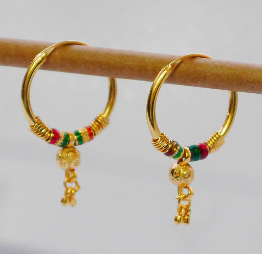 Gold plated earrings he15