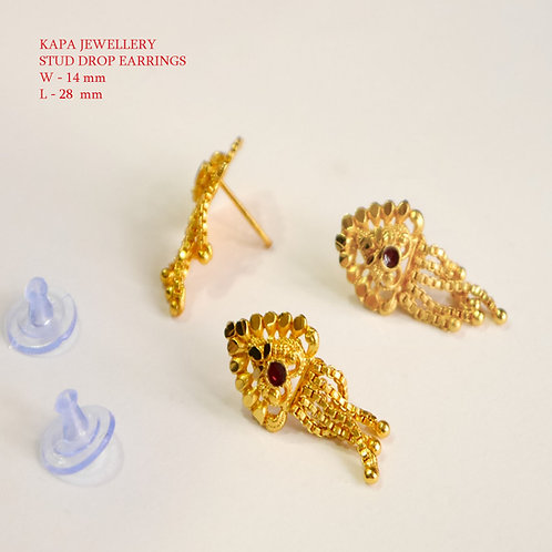 STUD EARRING -GOLD PLATED