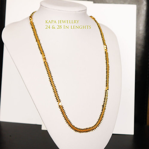 KAPA traditional gold plated chain necklace (24in)