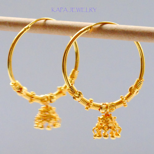 Gold plated earrings he2