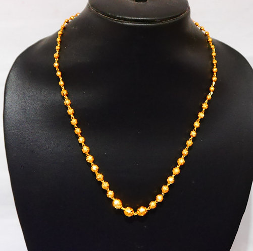 Gold plated choker chain L-16 in