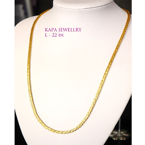 KAPA traditional gold plated necklace (22in)