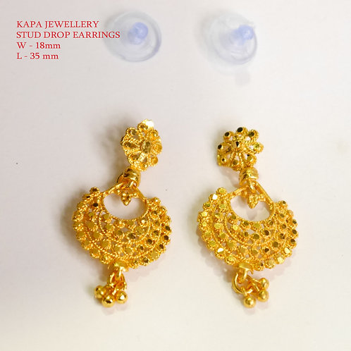 KAPA traditional gold plated chandbali earrings