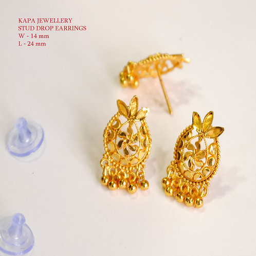 KAPA traditional gold plated stud earrings