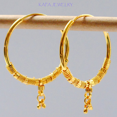 Gold plated earrings he1