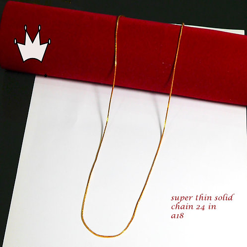 kapa 22k fine gold plated chain