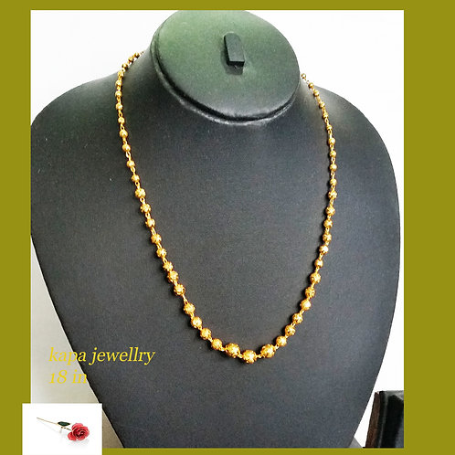 Gold plated Choker 18 in Chain