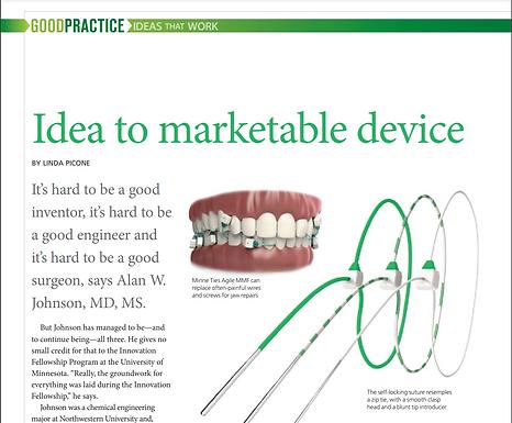Minnesota Medical Association Magazine: Idea to marketable device