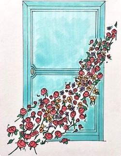 Porte aux fleurs