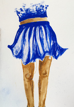 Jupe bleue - Available in shop