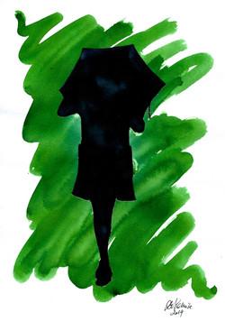 Femme au parapluie - Available in shop
