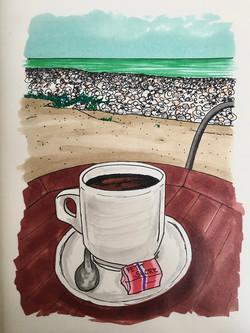 Café à l'eau de mer, Dieppe
