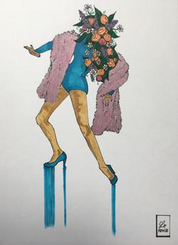 Lady Rétro •Série Portraits aux Fleurs •Available