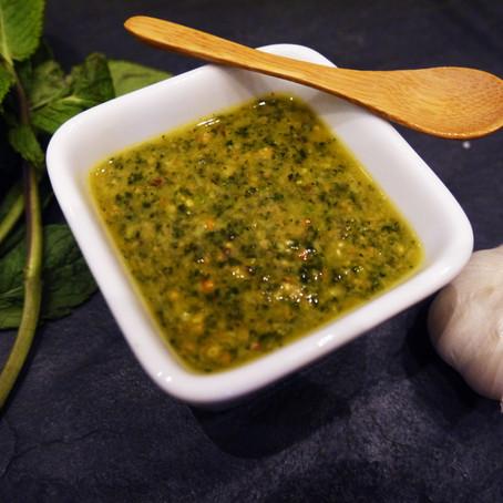 Raw Pistachio & Mint Sauce