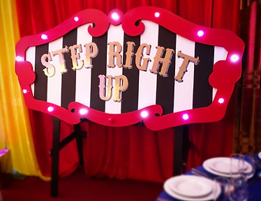 Step Right Up Circus Sign Hire