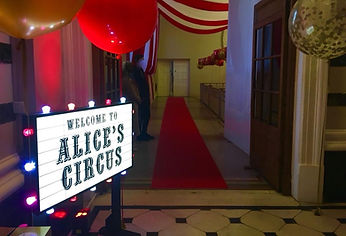 Personalised Welcome to the Circus Signs
