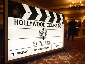 personalised light up clapperboard prop