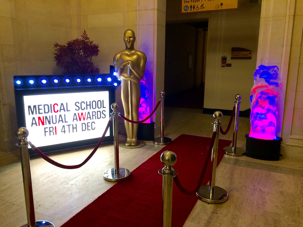 Awards Night Statues and Red Carpet Hire
