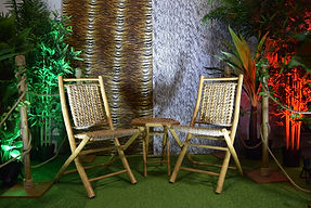 Bamboo Chair Set